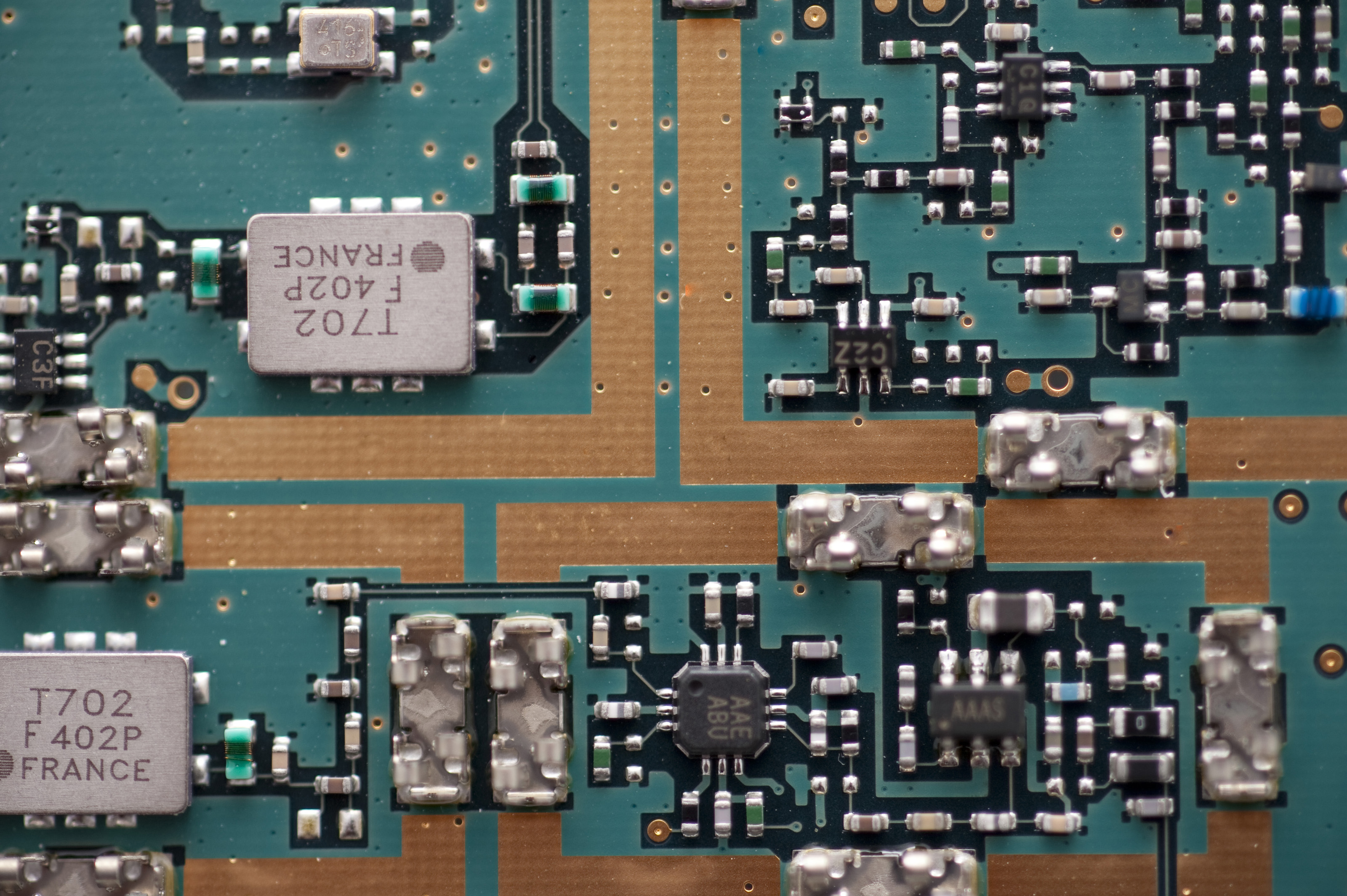 Free Stock Photo 12668 Close Up On Printed Circuit Board What Is A Of Transistors Capacitors And Other Components With Copy Space