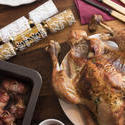 17185   Roast Christmas turkey with bacon rolls