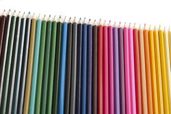 12193   Row of sharp colored pencils