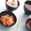 12305   Gourmet fresh raw salmon sashimi