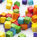 11974   Scattered piles of colorful blocks