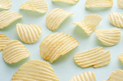 12768   potato chips as background