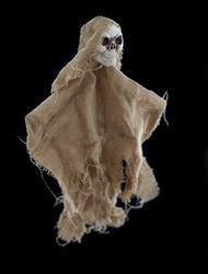 12788   Single burlap Halloween skeleton doll
