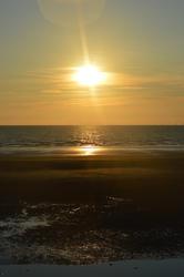 17035   Golden sunset on a UK beach