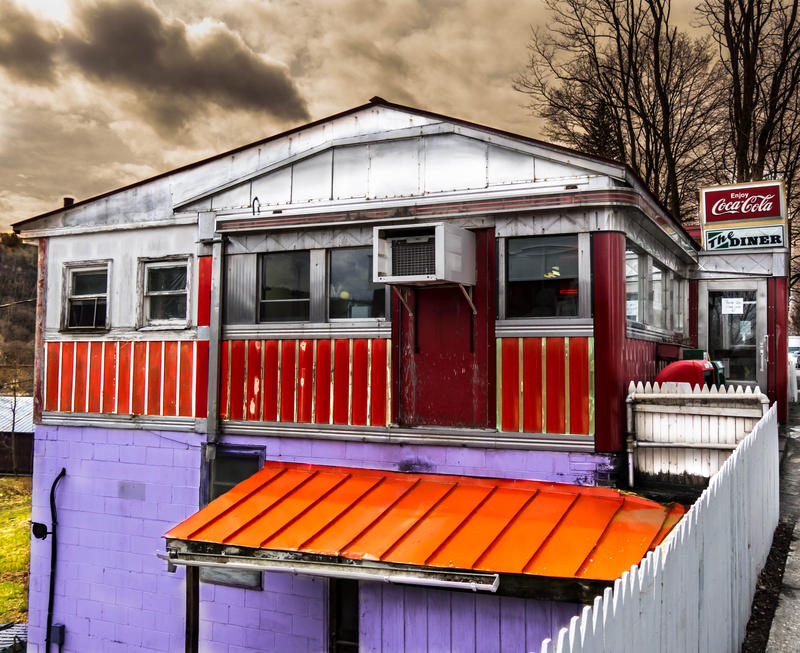 <p>The colorful Diner located in rural Vermont after the rains in late winter.&nbsp;</p>