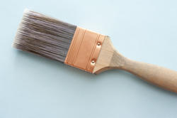 12199   Thick wall paint brush on blue background