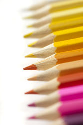12200   Selective focus view on bright colored pencils
