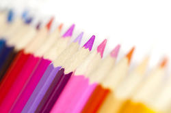 12201   Warm tones of colored pencils