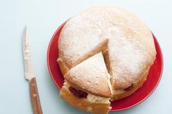 12349   fresh sponge cream cake with jam