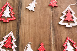 13165   Wooden Christmas tree decoration frame