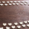 13092   Double white heart frame on textured wood