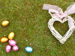 17342   Easter egg hunt and love concept