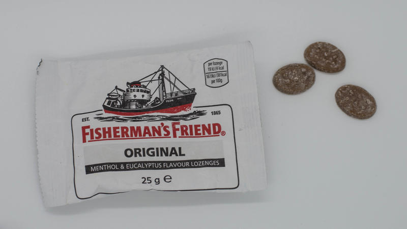 <p>EDITORIAL USE ONLY : Fisherman&#39;s Friends Original white pack on a white background</p>