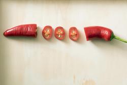 17240   Diced red hot fresh chilli pepper pod