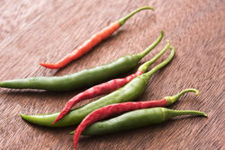 17242   Red and green hot chilli peppers