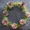 17285   Aromatic herbal rosemary Christmas wreath