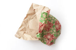 17289   Crumpled piece of used Christmas wrapping paper