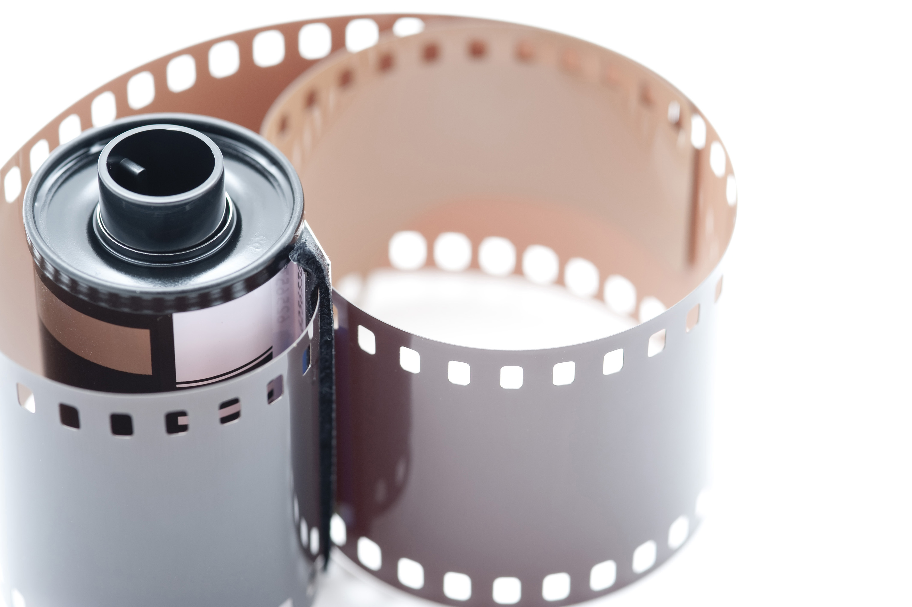 Free Stock Photo 12153 35mm Film Cannister with Exposed Film