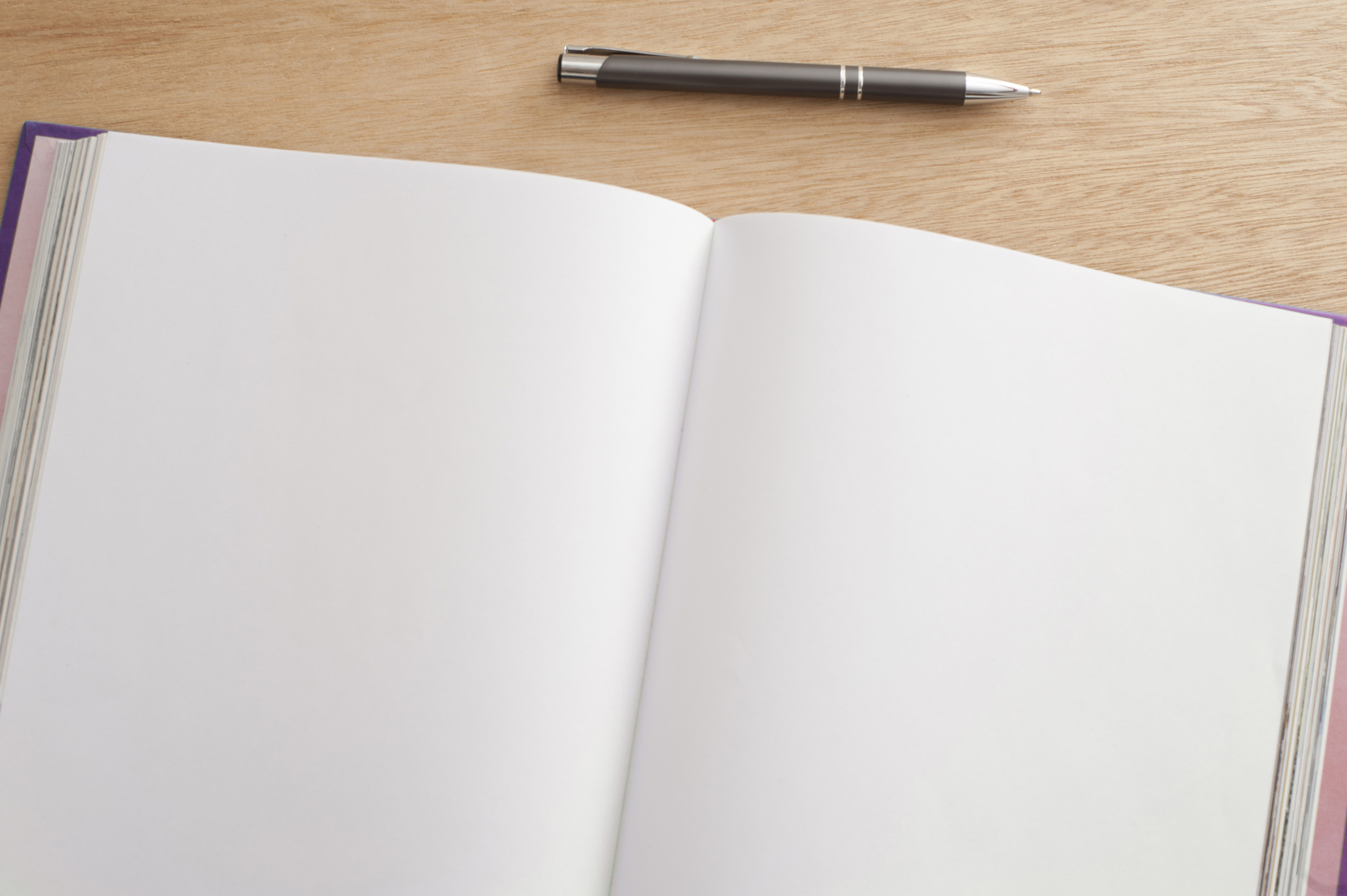 free stock photo 12725 double spread open blank pages in a journal
