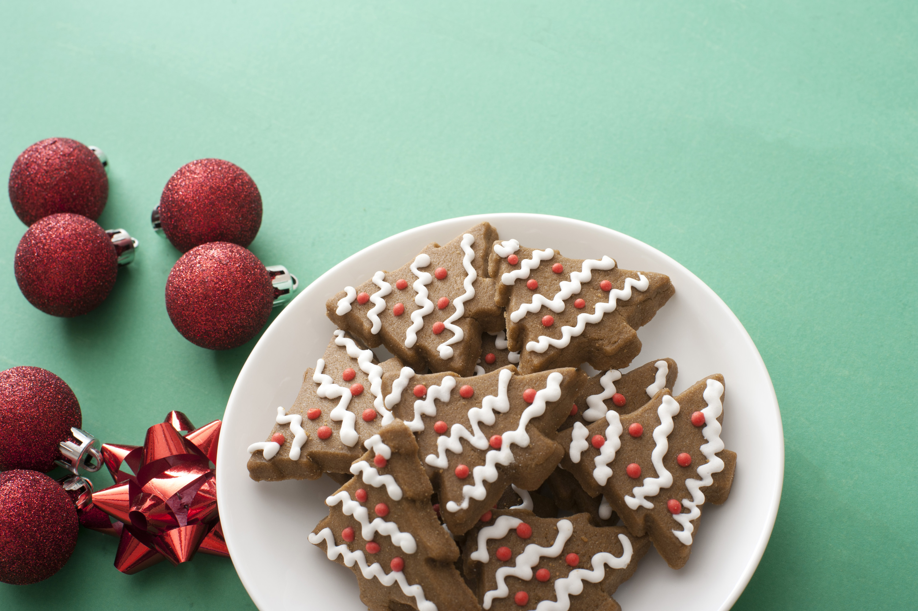 Free Stock Photo 13157 Iced Gingerbread Xmas Tree Cookies