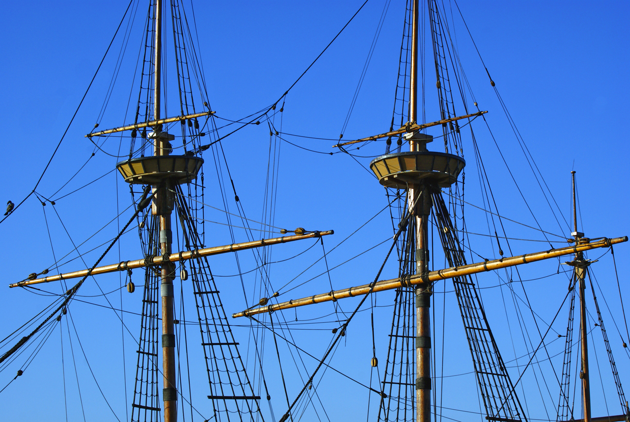 Free Stock Photo 3666-Ship Masts | freeimageslive for Rope Ladder Ship  45hul