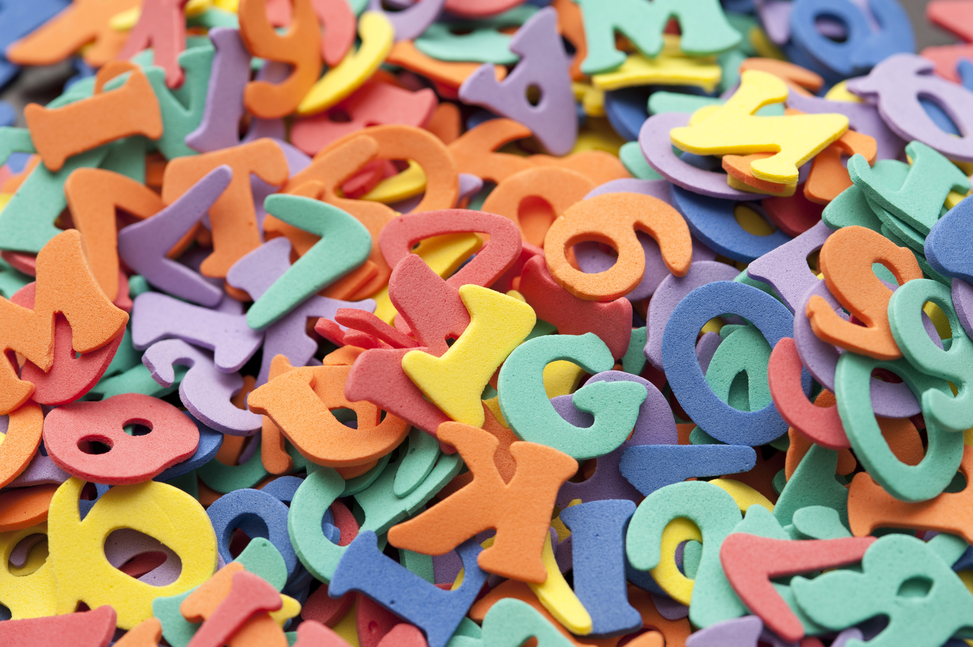 Free Stock 7000 Letters and numbers for preschoolers