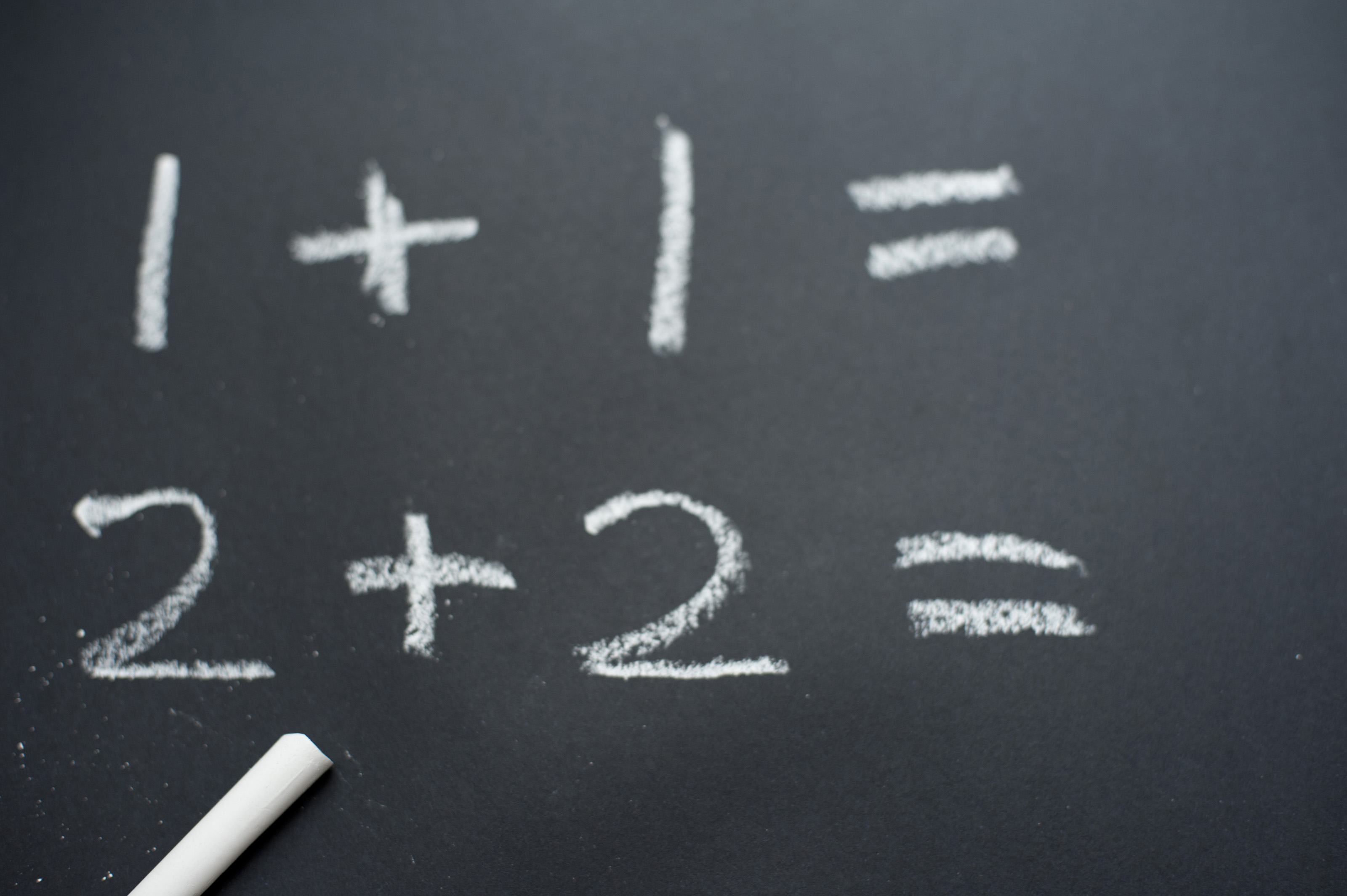 free stock photo 7026 basic sums on a blackboard freeimageslive