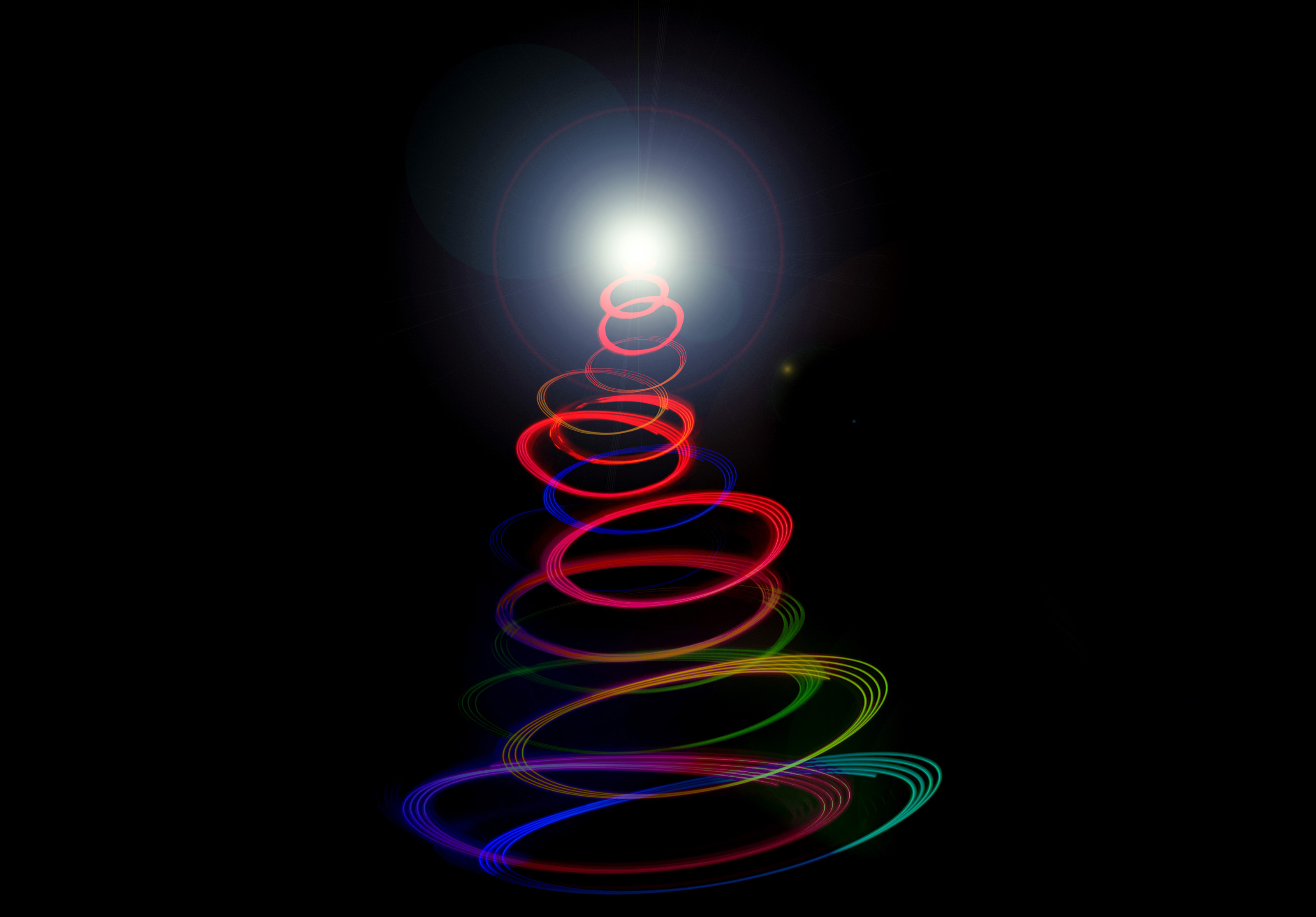 free stock photo 8638 abstract twirled christmas tree light