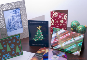 Seasonal cards made from free images